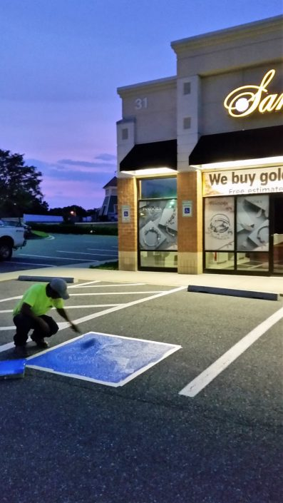 Commercial line striping contractor baltimore md team for Cost to paint parking lot lines
